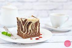 Ciasto zebra Tiramisu, Panna Cotta, Good Food, Breakfast, Ethnic Recipes, Film, Cookie, Morning Coffee, Movie