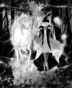 The Last Unicorn Unicorn Tattoos, The Last Unicorn, Unicorn Art, Fantasy Creatures, Mythical Creatures, Princesas Disney, Character Illustration, Disney Art, Amazing Art