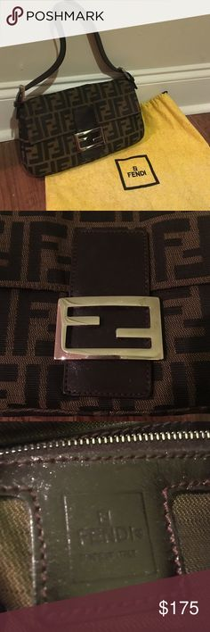 Authentic Vintage Fendi Shoulder Bag Authentic, vintage Fendi purse - made in Italy. Amazing condition- barely used. Color- Black and brown with a brown leather strap. Fendi Bags Shoulder Bags