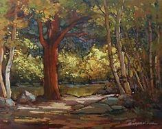 "Jan Schmuckal - ""Craftsman Autumn"" | Tonalist Impressionist Artist | Original Oil | 16x20"