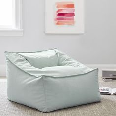 A cozy spot to sink in and prop yourself for movies, games or afternoon lounging, our Modern Lounger is covered in saddle-style upholstery that creates the look and feel of well-worn leather. In a cool cube-inspired shape, it's a modern take on ou… Teen Bedroom Furniture, Lounge Furniture, Cool Cube, Pottery Barn Kids Backpack, Selling Furniture, Pottery Barn Teen, Lounge Seating, Sit Back And Relax, Pbteen