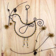 Žlutý ptáček dekorace korálky pták ptáček drát bílá černá veselé závěs žlutá drátování ohňovky třpytivé železný omotávané