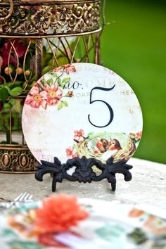 Wood Circle Table Numbers, Birf Themed Wedding, Circle Table Numbers