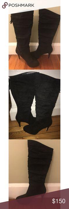 Knee high black heeled boots Tall black heeled boots size 7.5 Adrienne Vittadini Adrienne Vittadini Shoes Heeled Boots