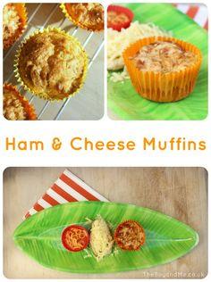 Ham & Cheese Muffins Yummy Yummy, Delicious Recipes, Yummy Food, Tasty, Muffin Recipes, Breakfast Recipes, Cheese Muffins, Lunchbox Ideas, Ham And Cheese
