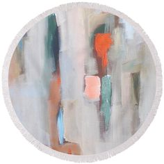 Abstract - Pink Round Beach Towel for Sale by Vesna Antic