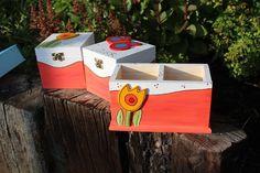 Maxi stojánek nejen na pastelky JARNÍ Tapas, Decoupage Box, Painted Boxes, Love Painting, Jars, Painted Mailboxes