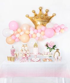Sweet Princess Boxes - Mary Ortiz - Sweet Princess Boxes Pink and Gold Princess Themed Birthday Party Decoration Inspriation - Princess Birthday Party Decorations, Princess Theme Birthday, Birthday Cake Girls, Baby Birthday, 1st Birthday Parties, Pink Princess Party, Birthday Cakes, Vintage Princess Party, Birthday Banners
