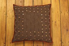 Knitted Cushion Decorative Pillow 40 cm by CottonwoodWorkshop Knitted Cushions, Decorative Pillows, Colours, Throw Pillows, Warm, Unique Jewelry, Handmade Gifts, Modern, Etsy