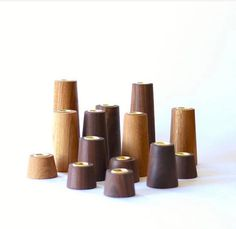 This Conical Cylinder is available in Oak, maple or Walnut. It is a beautiful and understated tool for minimalism. Available in Oak (grayish brown) (shown) or Walnut (dark brown) choose your height Brass candle hole is Base width of Taper Candle Holders, Wood Resin, Cozy House, Candlesticks, House Warming, Holiday Gifts, Woodworking, Unique Jewelry, Reddish Brown