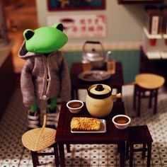Mimo Herbal Tea Shop by Doll Toys, Dolls, Cute Frogs, Frog And Toad, Vinyl Toys, Herbalism, Herbal Tea, Cute Animals, Geek Stuff