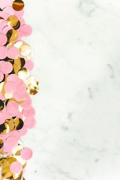 Pink and golden confetti by Vera Lair - Stocksy United Confetti Wallpaper, Pink Wallpaper Iphone, Pastel Wallpaper, Cute Wallpaper Backgrounds, Cute Wallpapers, Summer Backgrounds, Cute Pink Background, Confetti Background, Glitter Background