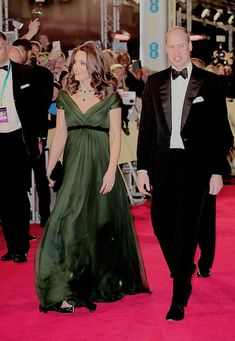 """"""" The Duke and Duchess of Cambridge attend the EE British Academy Film Awards (BAFTA) held at Royal Albert Hall on February 18, 2018 in London, England. """""""