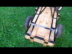 Build a homemade kids pull wagon: Radio-Flyer style with better steering! - YouTube