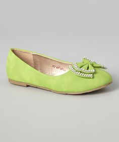 Look at this Lime Zendaya Flat on #zulily today!