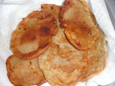 Virgin Islands Style Banana Fritters from Food.com:   								Looking for something new to do with those old ripe bananas?  These banana fritters have just the right amount of sweetness that the whole family will enjoy.  beware, these are definitely not for the dieting type, but they are so delicious, enjoy!