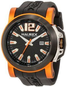 Shop the latest collection of Haurex Italy Men's San Marco Orange Aluminum Black Rubber Watch from the popular stores - all in one Swiss Automatic Watches, Rubber Watches, Watch Faces, Cool Things To Buy, Stuff To Buy, Watches Online, Black Rubber, Watches For Men, Italy
