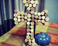Wine Cork Monogram 18 Inches Tall by BurlapWeddingBells on Etsy