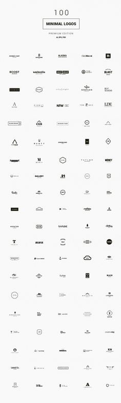 Starting a business or going freelance? Get ahead on your branding with this pack of 1100 logo elements. These are examples of the minimalist ones.