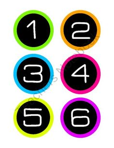 Teachers Notebook: Neon class numbers