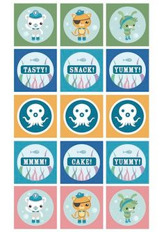 The Octonauts Printable Party Circle Tags by jlaidlaw on Etsy, $5.00