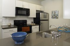 Plenty of room in thie kitchen of your new home at San Tropez Apartments in South Jordan, UT.