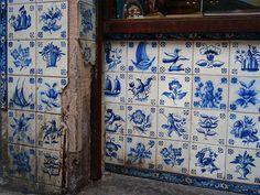 delft - handmade tiles can be customized Blue And White China, Blue China, Delft Tiles, Mosaic Tiles, Bleu Cyan, Layout Design, Art Tribal, Art Ancien, Blue Pottery