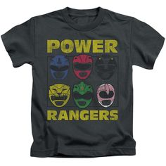 Power Rangers: Ranger Heads Juvy T-Shirt
