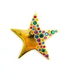Vintage Napier Gold Tone Star Brooch with by DejaVuVintiques, $6.99