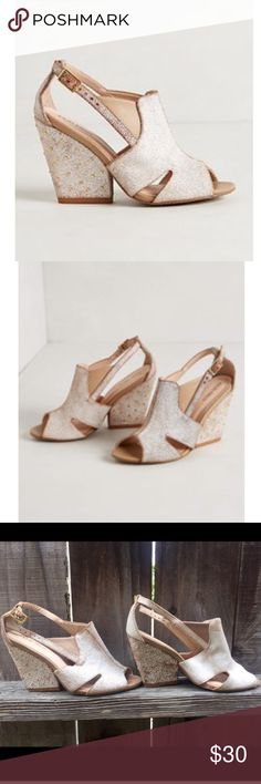 White Wedges Palm Grove Wedge by Klub Nico. Size 7 but fits like a 7.5. Worn one time. Klub Nico Shoes Wedges