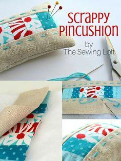 Scrappy Pincushion - The Sewing Loft