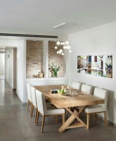 Table and chairs Dining Room contemporary dining room - Modern Dining Elegant Dining Room, Dining Room Contemporary, Modern Dining, Dining Room Furniture, Dining Room Interiors, Dinner Room, Scandinavian Dining Room, Home Decor, Dining Room Design Modern