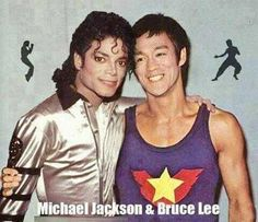 OMG! To see the two of them together would have been awesome. #MichaelJackson & #BruceLee