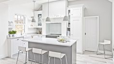 Traditional white kitchen with feature range cooker