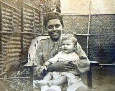 Shri Mataji as a young child (in the arms of a relative).