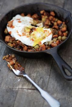 sweet potato and apple hash