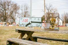 Gilded cage. Voigtlander Bessa R3A, Nokton 40mm f/1.4, Kodak Portra 160 @ 80. 1/2000 @ f/2.8. #visibleinlight #analogdetroit