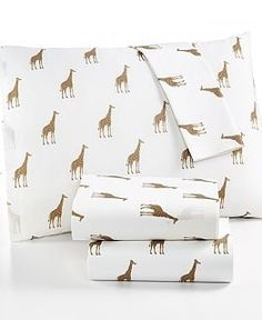 Amazon.com : Martha Stewart WHIM Collection 100% Cotton Sheet Set Size Twin Sparkley Giraffes : Bedding & Bath