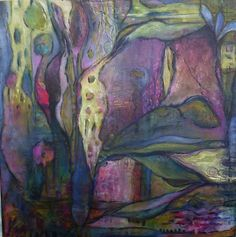 Marshland Original Abstract Contemporary Painting by Annie Lockhart