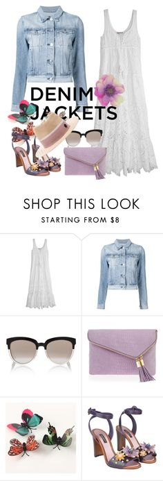 """""""Untitled #447"""" by m-jelic ❤ liked on Polyvore featuring Calypso St. Barth, 3x1, Christian Dior, Henri Bendel, Dolce&Gabbana, Maison Michel, denimjackets and WardrobeStaples"""