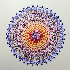 Dot Painting Mandala, via Flickr.