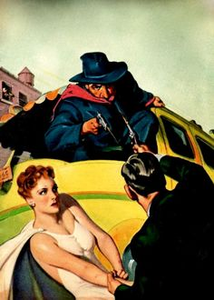THE SHADOW PULP MAGAZINE COVER FOR THE BLACKMAIL KING