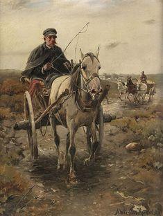 Alfred von Wierusz-Kowalski, Kutschfahrt