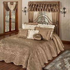 Portia Satin Quilted Oversized Bedspread Bedding $239