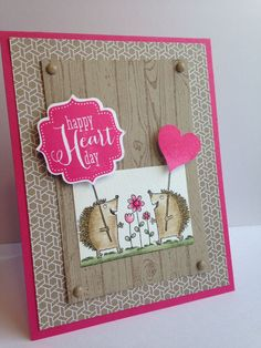 A Little smile and Tags 4 You stamp sets from Stampin' Up for your valentine.  www.etsy.com/kghcards