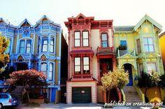 Необыкновенные разноцветные дома (40 фото)