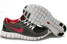 Nike Free Run Kvinder Grå Rød Sko