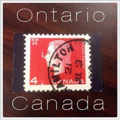 2014-03-11 #Postcard from #Canada (CA-412002) via #postcrossing #stamp #ontario #Padgram