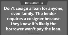 Daily Tips from Dave Ramsey Dave Ramsey Financial Peace, Financial Guru, Financial Quotes, Financial Literacy, Financial Planning, Dave Ramsey Quotes, Total Money Makeover, Money Saving Tips, Money Tips