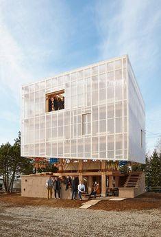 UC Berkeley students designed a wooden community food hub with the help of Kengo Kuma